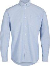 Minimum Heren Overhemd Jay 2.0 Hemelsblauw Egaal Oxford Slim Fit - M