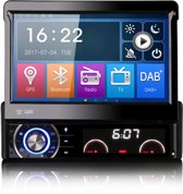 1Din autoradio – met navigatie – Klapscherm – Gratis Camera – Bluetooth – CD – DVD – Gesch