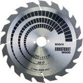 Bosch - Cirkelzaagblad Construct Wood 250 x 30 x 3,2 mm, 20- geschikt voor alle merken