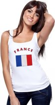 Witte dames tanktop Frankrijk S