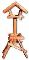 Vogelvoederhuisje - Zwart - 40 cm x 60 cm x 150 cm