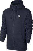 Nike Hoodie FZ Fleece Club Sportvest Heren - Obsidian/(White)