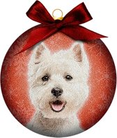 Ornament frosted Westie