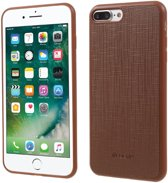 Jelly PU Leather+TPU  Case Cover voor Apple iPhone 7 / 8  - Bruin