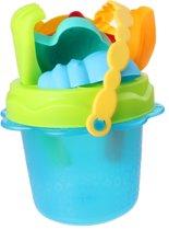 Free And Easy Strandemmerset Beach Toys 12 Cm Blauw 8-delig