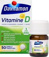 Davitamon Vitamine D Kinderen - Groei en Ontwikkeling - Smelttablet 50 stuks