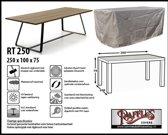 RT250 Rechthoekige hoes voor tuintafel, past over een tafel van max. 240 x 90 cm.