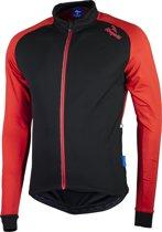 Rogelli Caluso 2.0 Fietsshirt - Heren - Maat L - Lange mouwen - Zwart/Rood