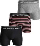 Bjorn Borg Basis Boxershort - Maat L  - Mannen - zwart/rood/grijs