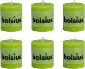 Bolsius Stompkaars 80/68 rustiek Lemongroen (per 6 stuks)