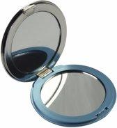 Zak spiegeltje blauw - make up spiegel