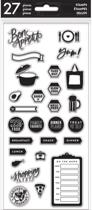 Me and My Big Ideas - Happy Planner Recepten stempel set - transparant -27 stuks