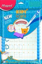 Whitebord Kidy transparant - met accessoires en leerbladen - blauw