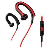 Pioneer SE-E711T oorhaak Stereofonisch Bedraad Zwart, Rood mobiele hoofdtelefoon