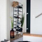 Schoenenkast 20 Paar.Relaxdays Metalen Schoenenkast Country Voor 20 Paar Schoenenrek 8 Etages Zwart