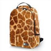 Laptop rugzak 17,3 Deluxe giraffe print - Sleevy - schooltas