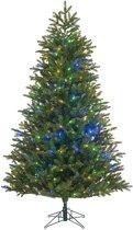 Black Box Trees kunstkerstboom met led frosted fraser maat in cm: 215 x 130 groen met 408 warmwitte led lampjes