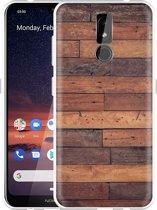 Nokia 3.2 Hoesje Houten planken