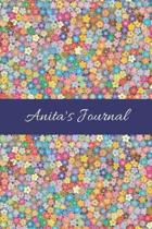 Anita's Journal: Cute Personalized Name College-Ruled Notebook for Girls & Women - Blank Lined Gift Journal/Diary for Writing & Note Ta