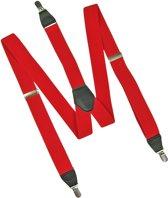 Rode Bretels Heren - Y vorm - 35 mm