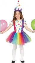 Clownsjurkje voor meisjes 128-134 (7-9 jaar)