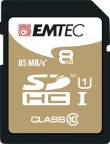 Emtec SDHC 8GB Class10 Gold + 8GB SDHC Klasse 10 flashgeheugen