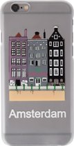81Fox  iPhone 7 / 8 hoesje white Marijuana case Amsterdam City Grachten Canal Coffeeshop Wiet Cannabis backcover Hasj wit