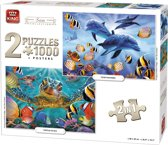 PUZZEL 2 IN 1 1000 PCS, SEA COLLECTION