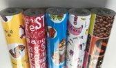 Sinterklaas cadeaupapier Consumentenrollen, 5 stuks - Toonbankrol breedte 70 (breedte rol)cm - 200cmm lang - C200x70-5