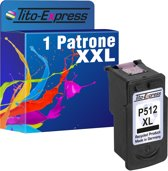 Tito-Express PlatinumSerie 1 Patrone voor Canon PG-512XL Black PlatinumSerie IP2700 MP230 MP240 MP250 MP260 MP270 MP280