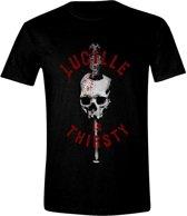 The Walking Dead - Lucille is Thirsty Men T-Shirt - Zwart - Maat S