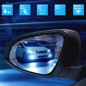 Buitenspiegel folie voor beter zicht - anti-regen - 2 stuks - ovaal - 150mm x 100mm - anti mist zij spiegel- anti sneeuw spiegel - anti vries zijspiegel - anti vuil zij spiegels - veilig rijden - nano coating - folie