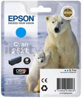 Epson 26XL (T2632) - Inktcartridge / Cyaan / Hoge Capaciteit