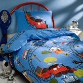 Day Dream Trein - dekbedovertrek - eenpersoons - 140 x 200 - Blauw
