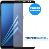 Glazen Screenprotector voor Samsung Galaxy A8 (2018) (FULL COVER) (ZWART) | Tempered glass | Gehard glas