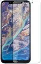 Shop4 - Nokia 8.1 Glazen Screenprotector -  Gehard Glas Transparant