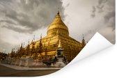 Shwezigon-pagode in Bagan Myanmar Poster 60x40 cm - Foto print op Poster (wanddecoratie woonkamer / slaapkamer) / Aziatische steden Poster