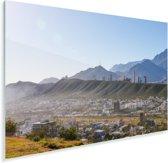 De vele mooie bergen rondom Monterrey met een blauwe lucht Plexiglas 180x120 cm - Foto print op Glas (Plexiglas wanddecoratie) XXL / Groot formaat!