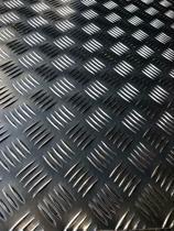 Aluminium traanplaat 1000x500x2.5/4mm