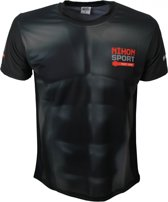 Nihon Sportshirt Humanoid Heren Zwart Maat Xs