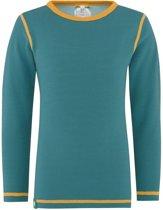 Solid shirt merino wol - groen