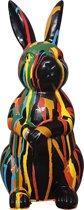 Vrolijke Beelden Konijn - 14x30x18 Cm - Zwart