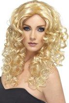 """""""Blonde gegolfde pruik voor dames - Verkleedpruik - One size"""""""