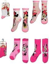 Set van 4 paar Minnie Mouse meisjes sokken - maat 31 / 35