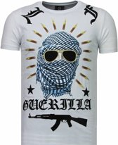 Local Fanatic Freedom Fighter - Rhinestone T-shirt - Wit - Maten: XXL