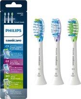 Philips Sonicare C3 Premium Plaque Control HX9073/07 - Opzetborstels verschillend - 3 stuks - Wit