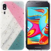 BackCover Marble Glitter voor Samsung A2 Core Grijs