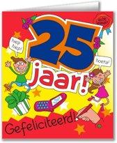 Paperdreams - Wenskaart - Cartoon - 25 Jaar