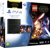 Playstation 4 1TB Black Lego Star Wars The Force Awakens BluRay
