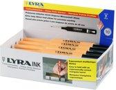 Lyra Aftekenpen zwart diepgat